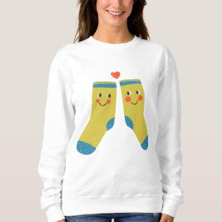 愛のソックス スウェットシャツ