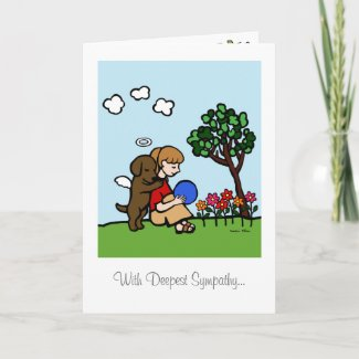 愛のチョコレートラブラドルの天使 グリーティングカード