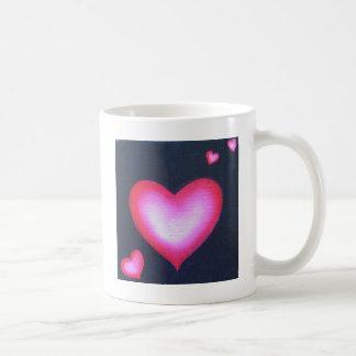 愛のハート コーヒーマグカップ