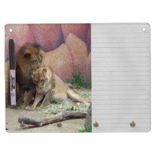 愛のライオン キーホルダーフック付きホワイトボード