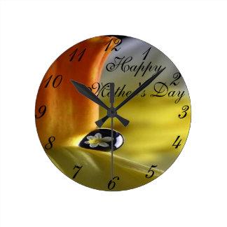 愛のラッパスイセンReflextion ラウンド壁時計