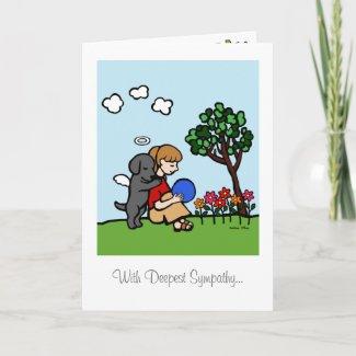 愛のラブラドルの黒い天使 カード