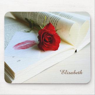 愛のロマンチックで素朴な本 マウスパッド