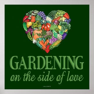 愛の側面の園芸 ポスター