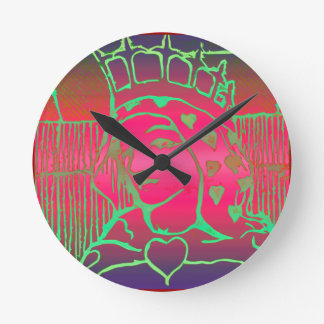 愛の女王 ラウンド壁時計