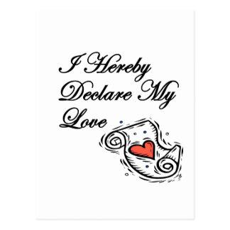 愛の宣言 はがき