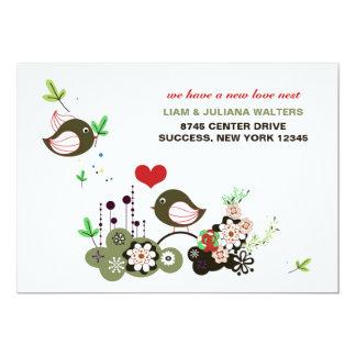 愛の巣の移動発表 12.7 X 17.8 インビテーションカード