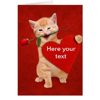 愛の微笑猫 カード