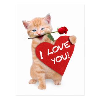 愛の微笑猫 ポストカード
