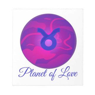 愛の惑星 ノートパッド