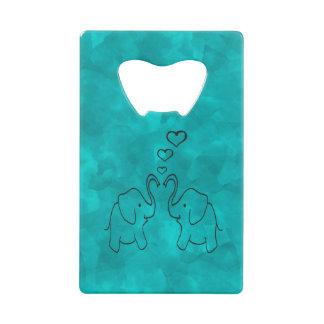 愛の愛らしくかわいい象 クレジットカード 栓抜き