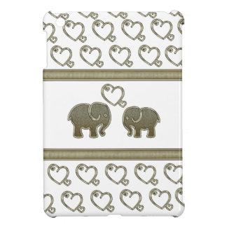愛の愛らしく陽気な象 iPad MINIケース