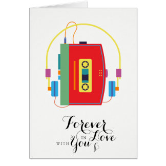 愛の永久にウォークマンカセットバレンタインカード カード