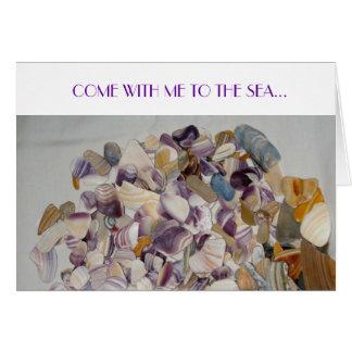 …愛の海に私と来られる! グリーティングカード