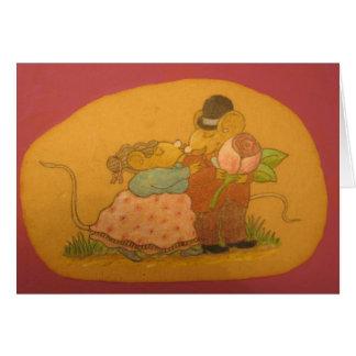 愛の深の夫および妻のネズミ カード