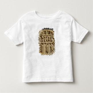 愛の神を描写する鏡のアイボリーの背部 トドラーTシャツ