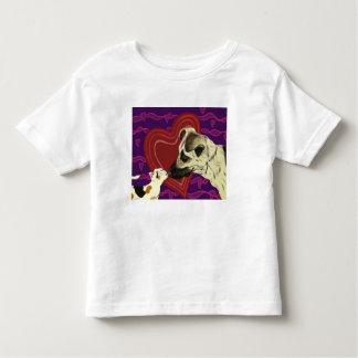 愛の範囲の幼児のティーの白 トドラーTシャツ
