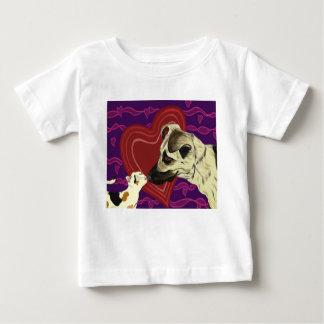 愛の範囲の幼児ティーの白 ベビーTシャツ