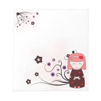 愛の芸者-メモ帳 ノートパッド