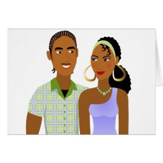 愛の若いカップル カード