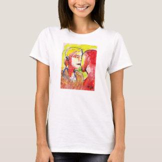 愛の若いカップル Tシャツ