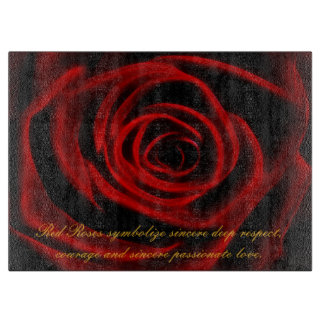 愛の赤いバラの深さ カッティングボード