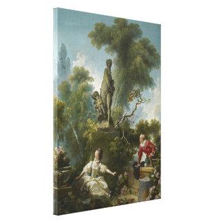 愛の進歩: Fragonard著ランデブー キャンバスプリント