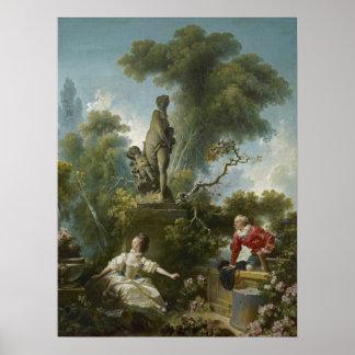 愛の進歩: Fragonard著ランデブー ポスター