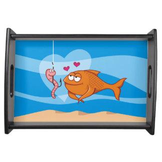 愛の魚そして餌 トレー