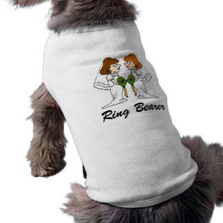 愛の2人の花嫁 犬用袖なしタンクトップ