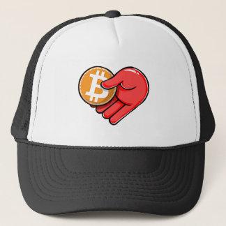 愛のBitcoinからハートの形Bitcoin キャップ