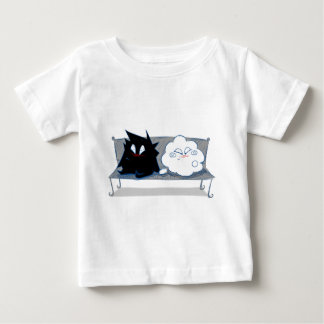 愛のWanda幸せな雲そしてイヴァン ベビーTシャツ