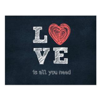 愛はあなたが引用文を必要とするすべてです ポストカード