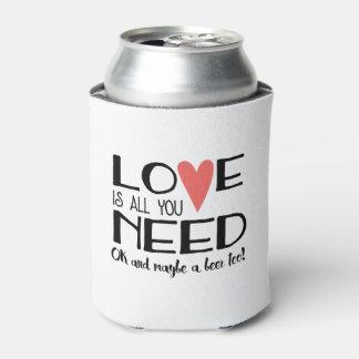 愛はあなたが結婚する及びビール必要があるすべてです 缶クーラー