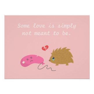 愛はあるためにおもしろいなハリネズミ意味されません ポスター