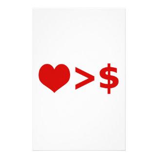 愛はお金の概念より重要です 便箋