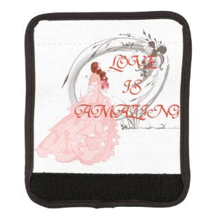 愛はすばらしいです-ピンクの服の花嫁 ラゲッジ ハンドルラップ