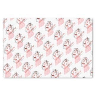 愛はすばらしいです-ピンクの服の花嫁 薄葉紙