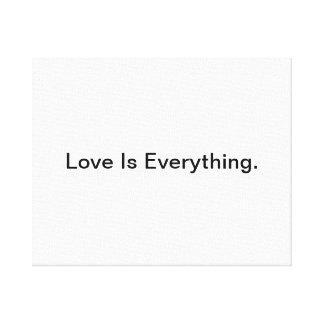 愛はすべてです キャンバスプリント
