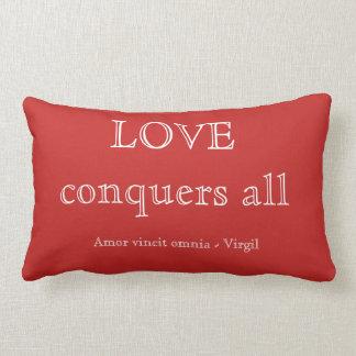 愛はすべてを征服します ランバークッション