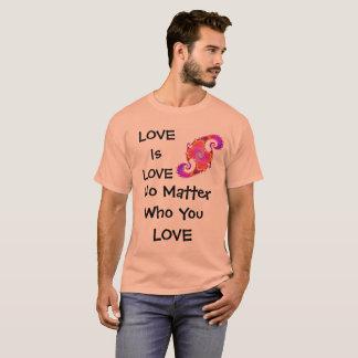 愛はだれワイシャツを愛しても愛です Tシャツ