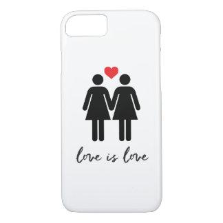 愛はです愛(女性) + ハート iPhone 8/7ケース