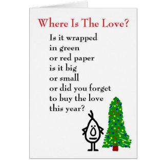 愛はどこにありますか。 - aの(悪い)クリスマスの詩 カード