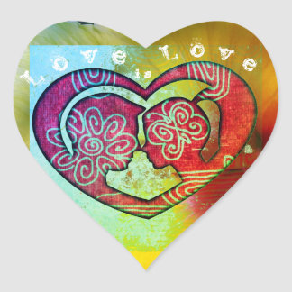 愛はカップルのための愛ハート形のステッカーです ハートシール