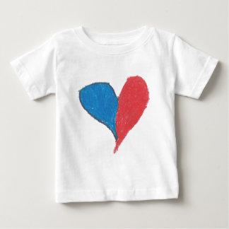愛はシンプル、カラフルです! ベビーTシャツ