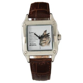 愛はジャーマン・シェパードのギフトです 腕時計