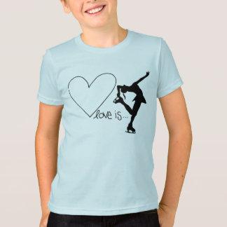 愛はハートのフィギュアスケート、です Tシャツ