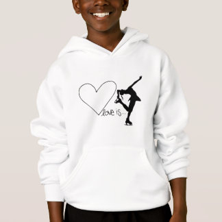 愛はフィギュアスケート、女の子のスケート選手及びハートです
