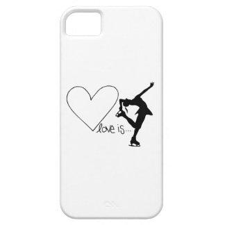 愛はフィギュアスケート、女の子のスケート選手及びハートです iPhone SE/5/5s ケース