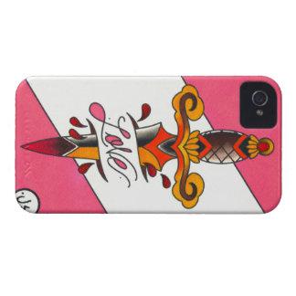 愛は伝統的な入れ墨の短剣を傷つけます Case-Mate iPhone 4 ケース